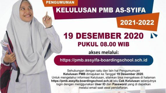 Lihat Disini Pengumuman Kelulusan PMB AsSyifa Boarding School 2021/2022